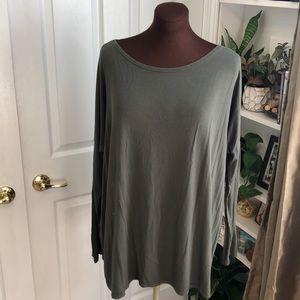 Green Piko Long-Sleeve Shirt